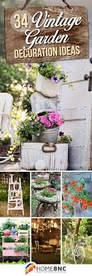 Image Rustic Flower Vintage Garden Decorations Homebnc 34 Best Vintage Garden Decor Ideas And Designs For 2019