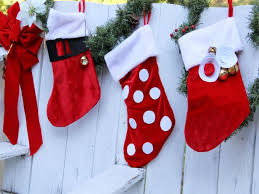 how to decorate a christmas stocking. Exellent Christmas CIJessAbbottEmbellishChristmasStockingsonfence_h For How To Decorate A Christmas Stocking DIY Network