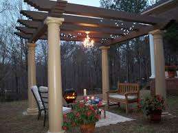 image of outdoor gazebo chandelier garden