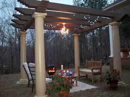 outdoor gazebo chandelier garden
