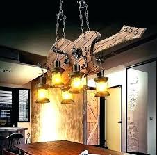 rustic hanging lamps lighting pendant wood lamp original design retro industrial 6 ideas bar light bulbs