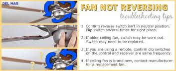 ceiling fan blades not reversing troubleshooting tips