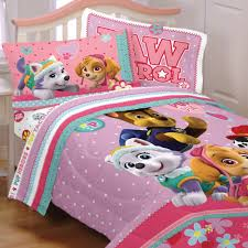paw patrol bed set best pup pals skye and everest comforter and sheet set