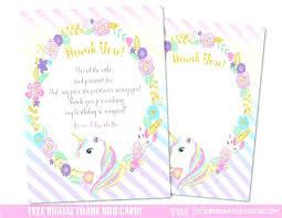 Unicorn Invitation Layout Image 0 Unicorn Themed Invitation Card