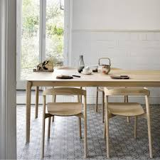 ethnicraft oak bok dining table and chairs in kitchen