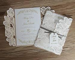 Vintage Wedding Invitation Amazon Com Picky Bride Floral Laser Cut Wedding Invitations With