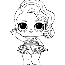 Lol Coloring Pages With Treasure From Lol Surprise Doll Coloring