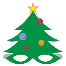 Printable Christmas Tree Christmas Tree Mask Template Free Printable Papercraft