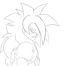 Dragon Ball Z Coloring Pages Vegeta Super Saiyan 4 Chronicles Network