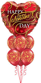 valentine elegance balloon bouquet jumbohappy valentinesday