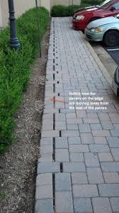 improper paver edging installation