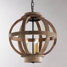 wood lighting. Mini Wood Globe Lantern Lighting