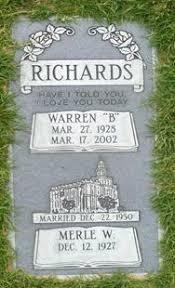 Warren B. Richards (1928 - 2002) - Genealogy