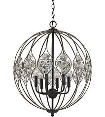 elk 81108 6 crystal web 6 light 21 inch bronze gold and matte black chandelier ceiling light