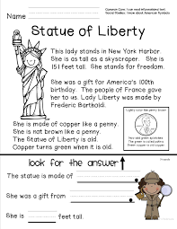 Reading Comprehension Sheet About The Statue