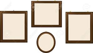 a group of empty frames of different shapes Stock Vector - 15616473