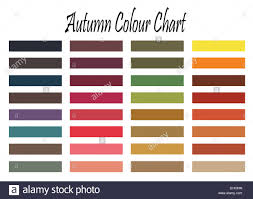 Color Chart For Autumn Type Woman For Clothes And Makeup