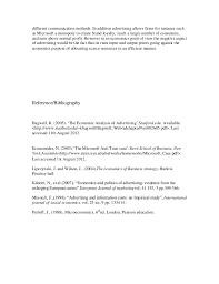 economics of advertising essay  3 different