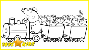 Small Picture Peppa Pig Coloring Pages and Friends in Train Coloring Book Fun
