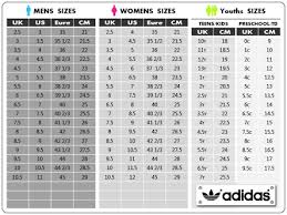 Adidas Children S Shoes Size Chart 70 Prototypic Shoe Size Conversion Youth