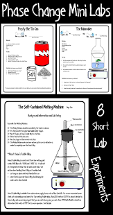 the phase change mini labs are a series of eight short experiments designed to help students