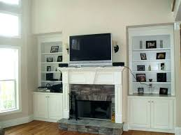 mount tv over fireplace hide wires on stone ing