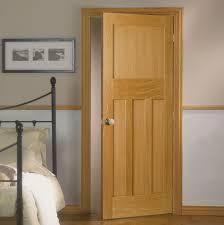oak hardwood white panel door