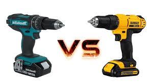 dewalt impact driver vs drill. dewalt vs makita brushless drill impact driver