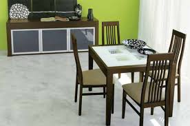 calligaris wooden dining table set with frosted glass