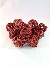 Decorative Balls For Bowl Twig Rattan Balls Decorative Spheres Brown Vase Filler 74