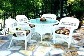 glass top patio dining table outdoor wicker dining table with glass top white cane dining chairs