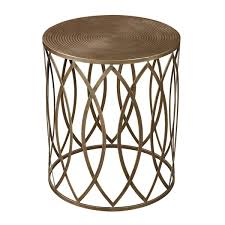 metal accent table. Antique Gold Finish Round Metal Accent Table U
