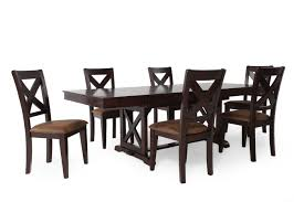 Seven Piece Rectangle Extension 71 to 95 Dining Set in Dark