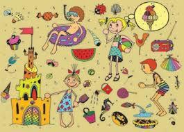 Resultado de imagen para dibujo de niños  el verano