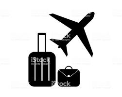 空港 ピクトグラム ベクトルで飛行機の手荷物を旅行します アイコンの