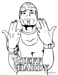 Small Picture Wrestler jeff hardy coloring pages Hellokidscom