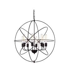 vienna 8 light dark bronze pendant lamp