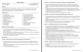 Dba Resume Sample Junior System Engineer 21 Oracle Format For