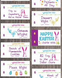 diy coupon book easter coupon book for kids easter basket filler easter basket gift easter basket for boys girls easter basket idea easter bunny diy