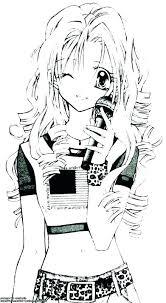 Anime Coloring Pages Girl Anime Coloring Pages Girl Vampire Cat
