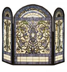 best 25 stained glass fireplace screen ideas on glass fireplace covers uk