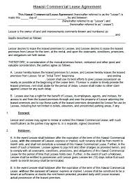Commercial Lease Rental Agreement Free Sample Example For On ...