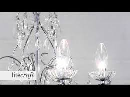 vara 5 light bathroom chandelier chrome litecraft lighting your home