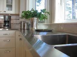 Small Picture Stylish Metal Kitchen Countertop Ideas Giving Industrial Look to