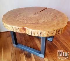 log coffee tables and end round table live edge industrial tree slice rustic 20170918 1