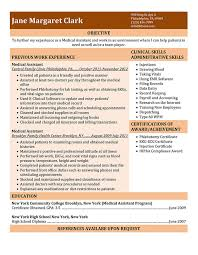 Medical Resume Medical Assistant Resume Templates And Job Tips Hloom