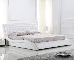 japanese platform beds francis modern white leather home decor