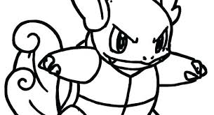 Baby Squirtle Coloring Pages Squad Page Free Packet Evolution Go
