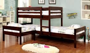 bed 2. Wonderful Bed Triple Lshape Bunk Bed 1 Up 2 Down Throughout Bed