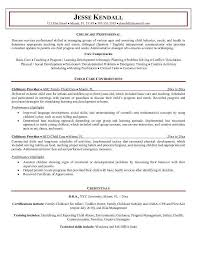 Child Care Resume Examples As Resume Cover Letter Examples